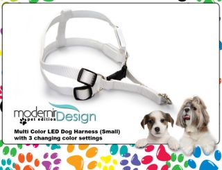 Dog Harness Small 7 Color LED Flashing Pet Rope Belt Safety Glow Leash Light