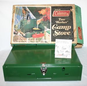 Coleman 2 Burner Outdoor Propane Camp Stove Camping Cooking Picnic with Box