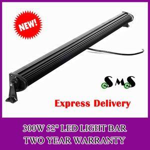 52inch 300W Combo LED Work Light Bar Lightbar 12 24V Jeep SUV ATV 288W240W50