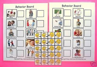 Good Bad Behavior BOARD2 Autism Pecs Speech ABA Therapy