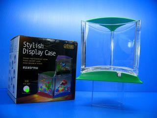 Ista Stylish Display Case Mini LED Fish Tank Green Color for Betta Fish Guppy