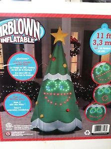 11ft Gemmy Animated Inflatable Singing Christmas Tree Outdoor Christmas Decor