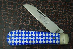 Winchester Trade Mark Long Pull Checkerboard Real Sheepfoot Jack Knife CR141