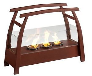 Wildon Home Free Stand Gel Fuel Fireplace Heat Portable Stove Outdoor Wood New