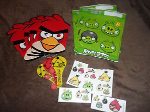 Angry Birds Birthday Party Supplies Loot Bags Masks Tattoos Paddle Balls