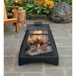 Black Bon Fire Pit Pagoda Outdoor Backyard Log Wood Stove Camping Bowl Grill