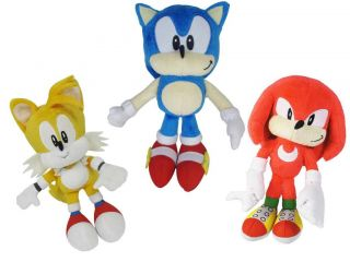 Sonic The Hedgehog 7 inch Sonic Classic Plush Knuckles Tails Sonic Soft Toy New