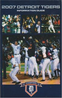 Detroit Tigers Official 2007 Major League Baseball Information Media Guide