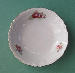 Walbrzych Ct Germany Altwasser Moss Rose Fruit Bowl Vintage China Dinnerware Set