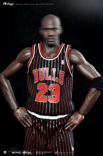 Custom 1 6 Scale Michael Jordan Black Chicago Bull Jersey Suit for Enterbay Body