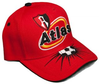 New Atlas Futbol Club Adjustable Velcro Back Hat 3D Embroidered Cap Zorros