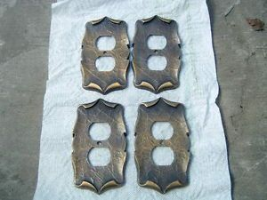Amerock Carriage House Antique Brass Electrical Outlet Covers 4