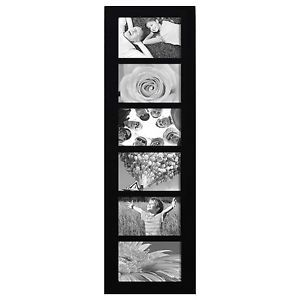 "Adeco PF0167 6 openings 4""x6"" Picture Frame Wood Photo Collage Frame for Wal"