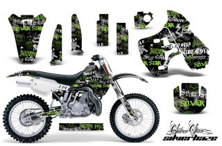 AMR Racing Dirt Bike Motocross Graphic Accessory Kit Kawasaki KX 500 88 04 SHGK