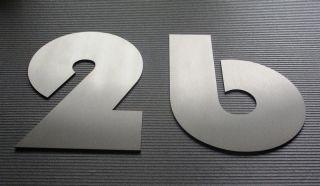 Hausnummer Edelstahl 20cm Rostfrei Bauhaus INOX V2A House Number