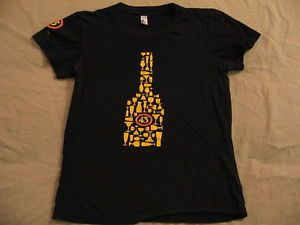 Licor 43 Heart Soul of Spain Black Cap Sleeve T Shirt Womens Small Used