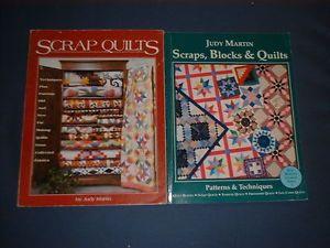2 Quilt Books Judy Martin Scrap Quilts Scraps Blocks Quilts 280 Pgs
