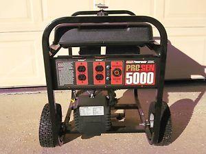 Coleman Powermate Pro Gen 5000 Portable Electric Generator