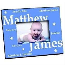 Personalized Baby Boy Picture Frame Baby Photo Frame