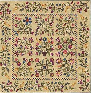Spring Bouquet Applique Quilt Pattern by Edyta Sitar of Laundry Basket Quilts