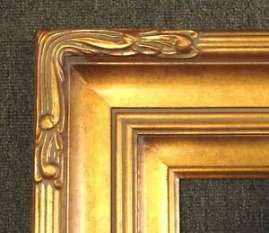 """5"""" Gold 16x20 Leaf Ornate Family Oil Painting Wood Picture Frame Wide 607G"""