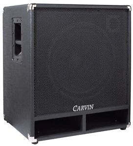 """Carvin BR115 4 400W 15"""" Bass Guitar Sub Speaker Cabinet Cab 4 Ohm New"""