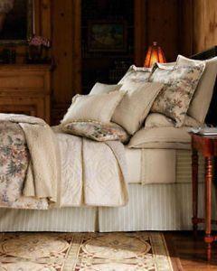 """Ralph Lauren """"Winter Garden"""" Queen 12pc Floral Comforter Set BNWT"""