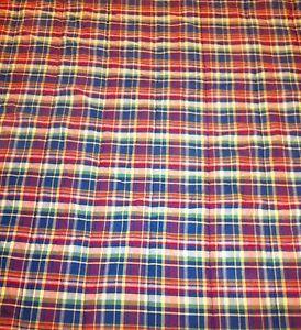 Ralph Lauren Blue Multi Plaid Cotton Comforter Full Queen Look