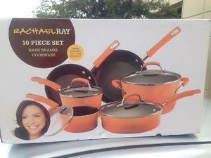 Rachael Ray 10 PC. Porcelain Enamel Cookware Set