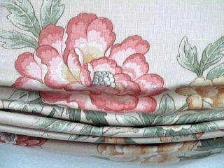 Custom Designer Roman Shade Valance Braemore Linen Cotton Pattern Bele Maede