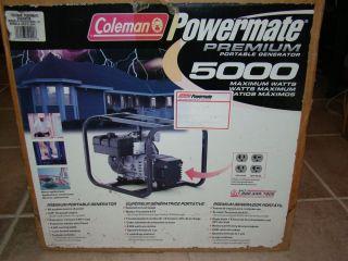 Coleman Powermate Premium 5000 Portable Generator New