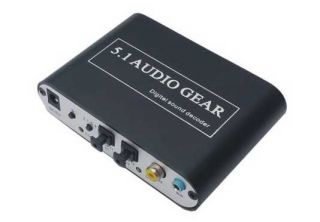 Ac3 DTS 5 1 Audio Gear Digital Sound Decoder SPDIF PS3 HD Audio Rush