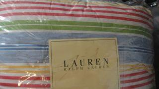 Ralph Lauren Studio Awning Stripe Queen Comforter Set