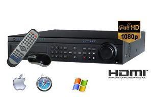 24 Channel 720 FPS Standalone DVR Pentaplex H264 1080p HDMI 500GB Optional DVD