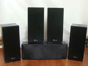 New LG 5 Piece Surround Sound Home Theater Speaker Set 3OHMS Each Black