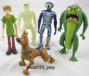5PCS Scooby Doo Swamp Beast Monster Shaggy Dog Ghost Skeleton Figures C72