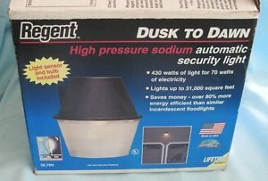 Regent dusk to dawn security light 175 watt mercury vapor 120v regent dl70h dusk to dawn high pressure sodium automatic security light mozeypictures Images
