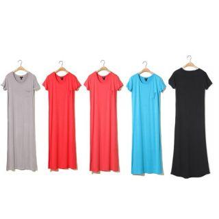 New Fashion Women Modal Round Neck Length Long Maxi Dress