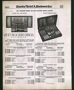 1930 Ad 1847 Rogers Bros Silver Plate Lady Fair Pattern Flatware Silverware