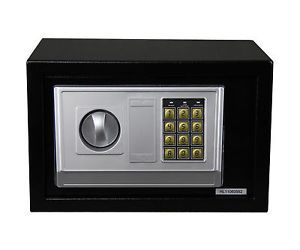 Digital Electronic Safe Safety Security Lock Box for Home Office Black 20B