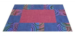 "Flor Wormhole Area Rug Tile Kit 6' 5"" x 8' 2"" 20 Tiles of 19 7"" x 19 7"""