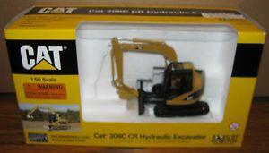 Caterpillar 308C CR Hydraulic Excavator 1 50 Norscot Toy 2004 Backhoe Digger Cat