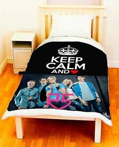 "Keep Calm and Love Ross Riker Rocky Lynch R5 Fleece Throw 50""X60"" Large"