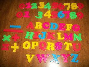 51 Magnetic Alphabet Letter Number Refrigerator Fridge Magnets Lot