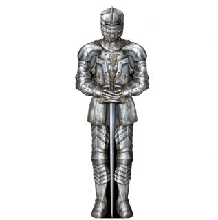Huge 6ft Tall Jointed Medieval Suit of Armour Knight Cut Out Party Decoration