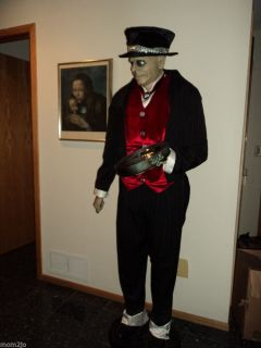 Jeeves 6ft Butler Halloween Talks Gemmy Animated RARE Prop Decor Chicago NW Ind