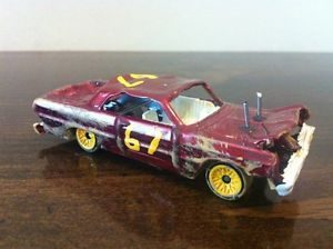 Custom 1 64 Hot Wheels 64 Impala Demolition Derby Car Demo