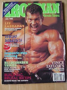 Ironman Bodybuilding Muscle Mag Lee Labrada Arnold 7 93
