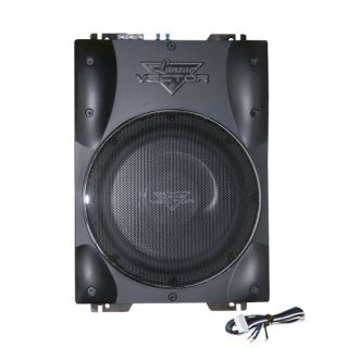 Lanzar VCTBS8 600 Watt 8'' Ultra Slim High Power Amplified Subwoofer Enclosure