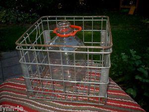 """Vintage """"Dean Food""""92 Steel Wire Industrial Dairy Milk Crate Carrier Primitive"""